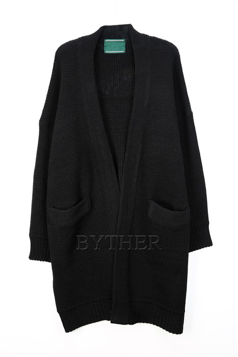 Long Loose Knit Cardigan