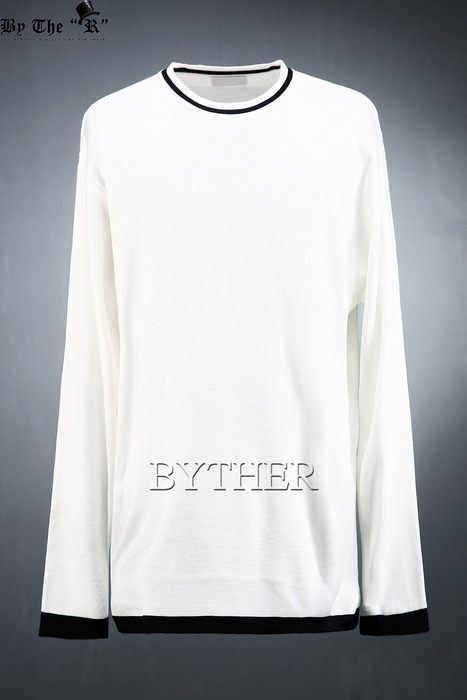 Outline Coloring Crew-neck Knit T-shirts