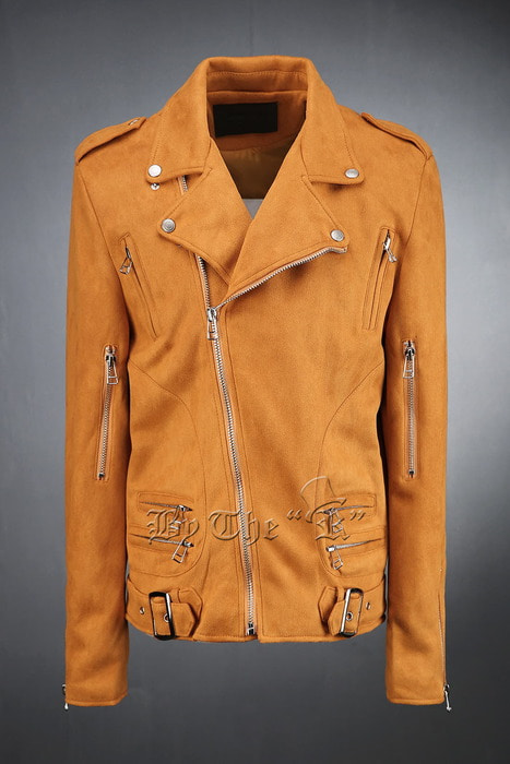 Camel Zip Pocket Biker Jacket