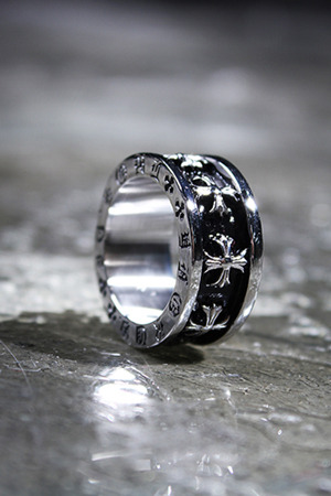 Cross Lettering Engraved Ring