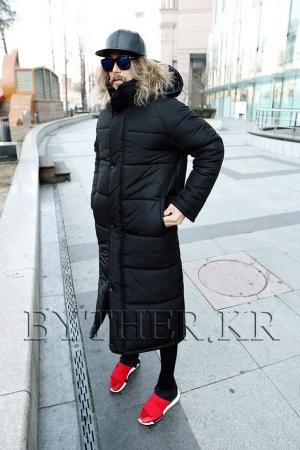 沉重长款时尚外套