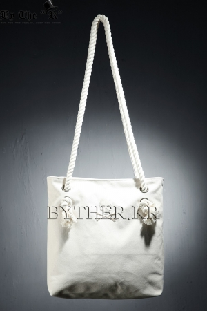 ByTheR Embroidered Skull Rope Tote Bag
