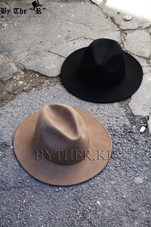 ByTheR High Quality Soft Wool Felt Chic Looking Fedora Hat