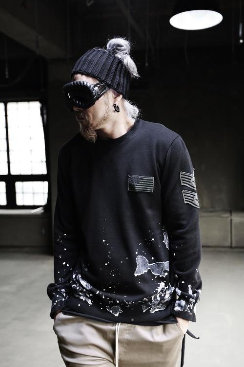 Grunge Vintage Color Custom Long Sleeve Embroidered SweatShirt