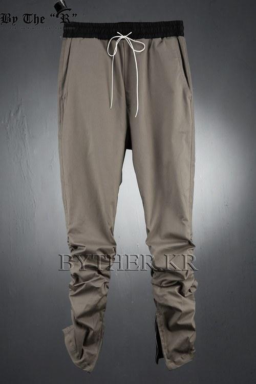 inside Zipper Shirring Pants