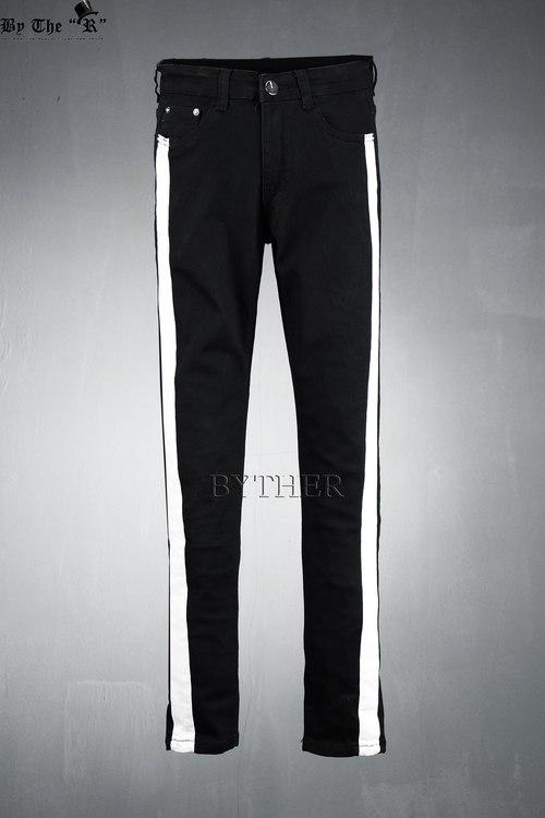 White Color Line Jean