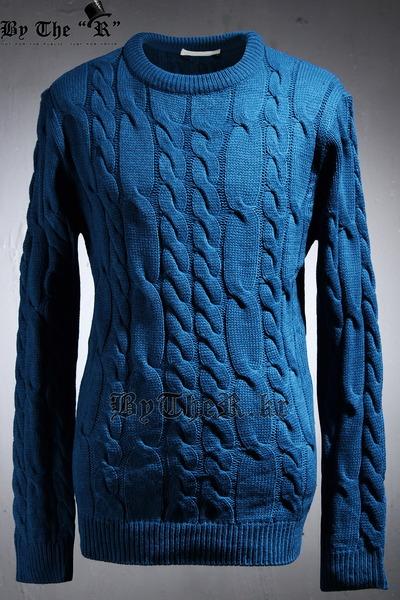 麻花多颜色针织毛衣
