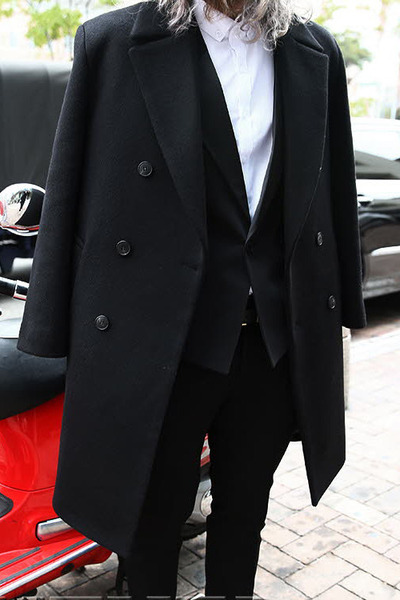 Classy Double Breasted Overcoat