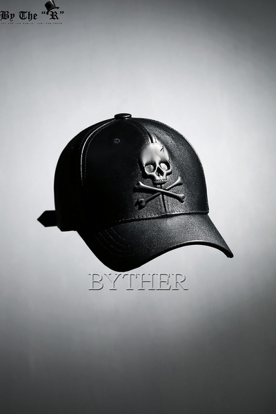 ByTheR Skull Leather Ball Cap