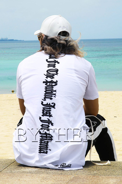 ByTheR Back Letter Embroidery T-shirt