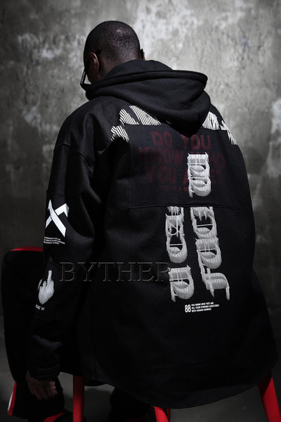 Printing Patch Hoodie Field Jacket
