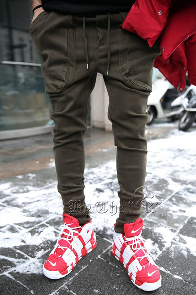 Nap Raised Solid Banding Jogger Pants