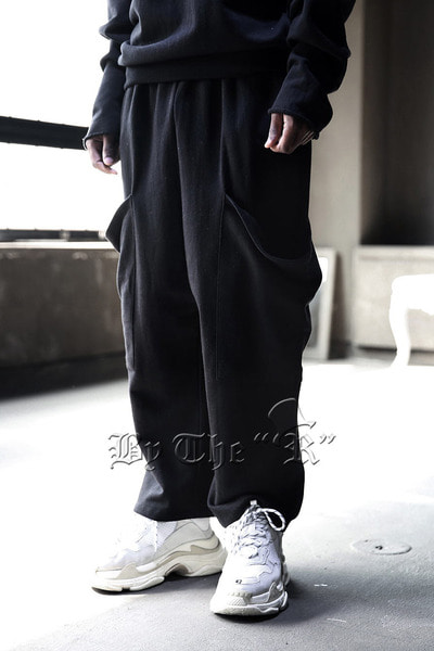 ByTheR Big Pocket Wide Cotton Pants
