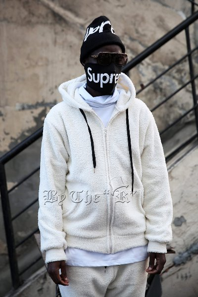 Soft Fleece Ankle Basic Zip-up Hoodie