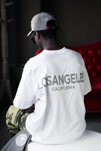 Los Angeles Scotch Reflective Loose Fit Short Sleeve Tee