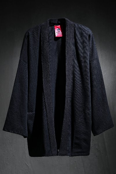 ByTheR Flat Rope Robe Cardigan Black