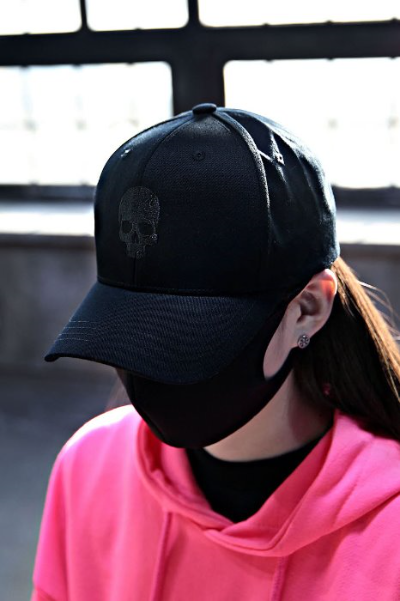 ByTheR Skull Embroidery Ball Cap Black